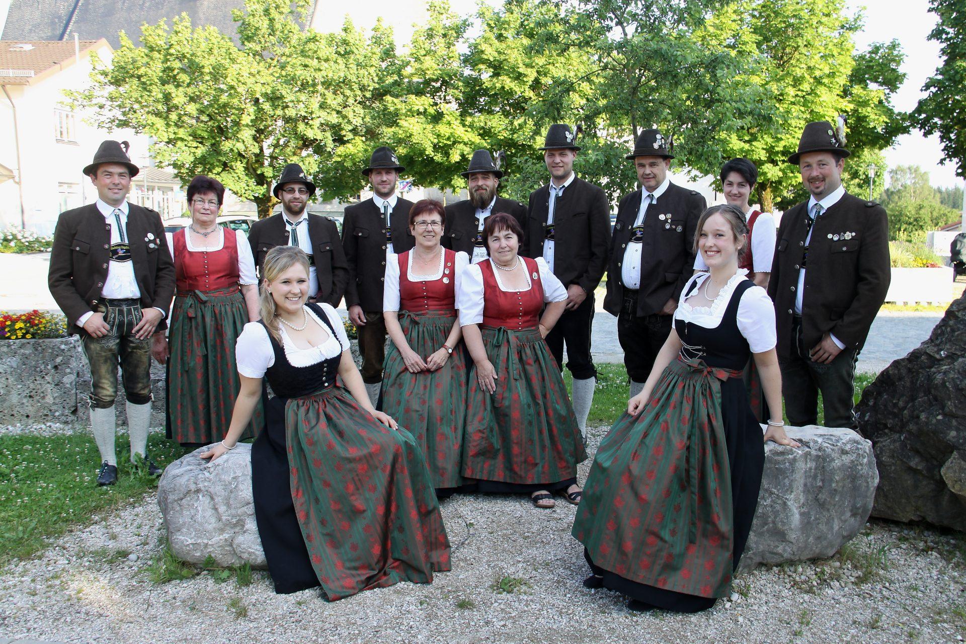 Die Vorstandschaft der Altschützengesellschaft Engelsberg