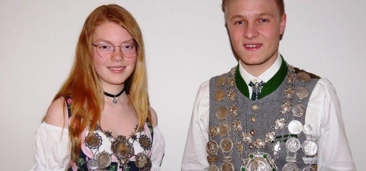 Jungschützenkönigin Franziska Popp und Schützenkönig Sebastian Burggraf